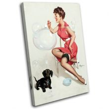 Vintage Girl Retro Pin-ups - 13-2058(00B)-SG32-PO
